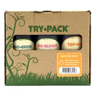 Biobizz Try Pack Indoor - Kit Completo di Fertilizzanti per Coltivazione Indoor