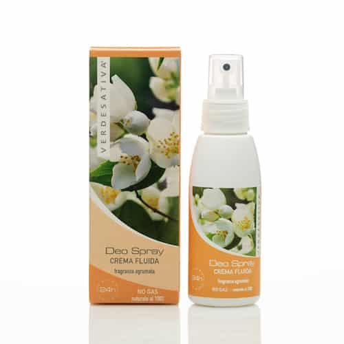 Deodorante Spray Crema Fluida Fragranza Agrumata No Gas Unisex