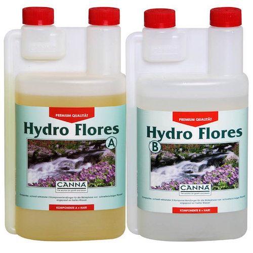 CANNA HYDRO FLORES A-B 2X1L Fertilizzanti Fioritura per Coltivazione Idroponica