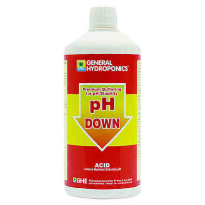 pH Down GHE Regolatore di pH Formula specifica per regolare e stabilizzare il pH