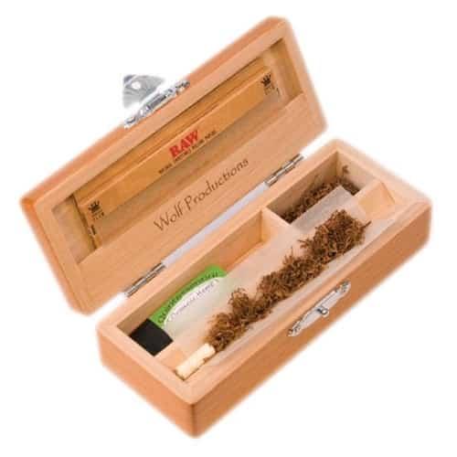 Scatola per fumatori per rollare sigarette