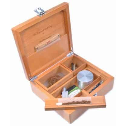 Rolling Box T4 Deluxe Scatola per Fumatori in legno 230 X 215 X 80 mm