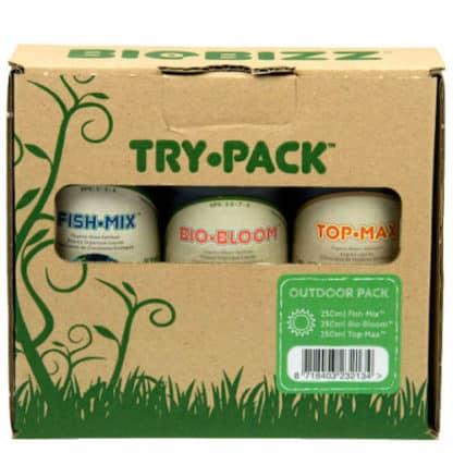 Biobizz Try Pack Outdoor - Kit Completo di Fertilizzanti per Coltivazione Outdoor