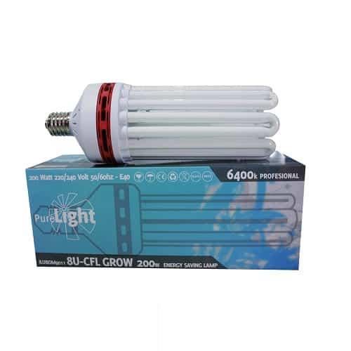 Lampada Bulbo CFL Pure Light Grow (6400°K) per Crescita Vegetativa