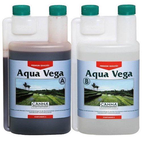 Canna Aqua Vega A+B 2x1 Lt - Fertilizzanti Crescita Specifici per idroponica