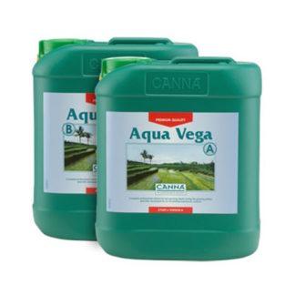 Aqua Vega A+B 2×5 Lt Canna - Fertilizzanti Crescita Specifici per idroponica