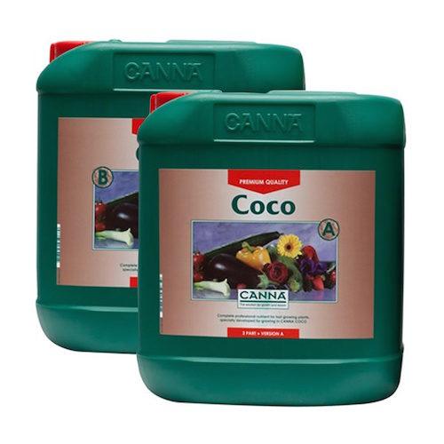 CANNA COCO A-B 2X5L Fertilizzanti Crescita e Fioritura per Coltivazione in Cocco