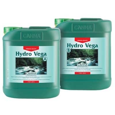 CANNA HYDRO VEGA A-B 2X5L Fertilizzanti Crescita per Coltivazione Idroponica