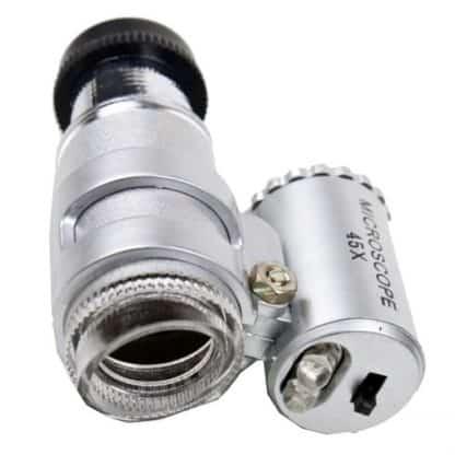 Mini microscopio 45x led bianco