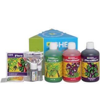 Kit GHE Flora Series HW (Hard Water) – Tripack fertilizzanti completo per tutto il ciclo