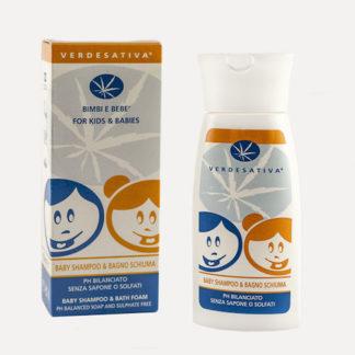 Shampoo Bagno Schiuma 150ml Verdesativa pH Bilanciato no Sapone o Solfati