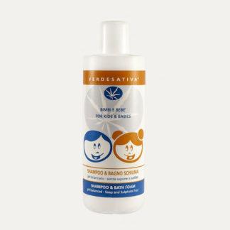 Shampoo Bagno Schiuma 500ml Verdesativa pH Bilanciato Senza Solfati
