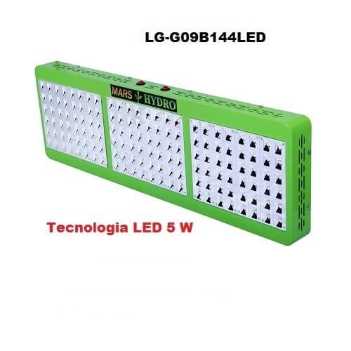 Lampade LED Coltivazione Indoor Mars Hydro 144 Led 5w Consumo 310w