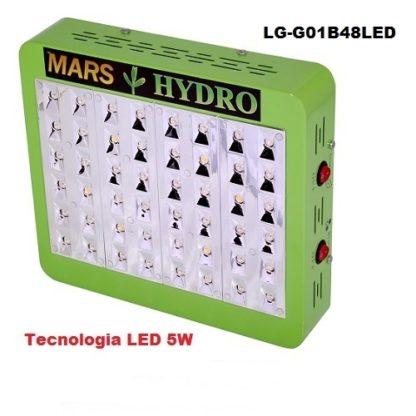 Lampade Led Coltivazione Indoor Mars Hydro 48 Led 5w