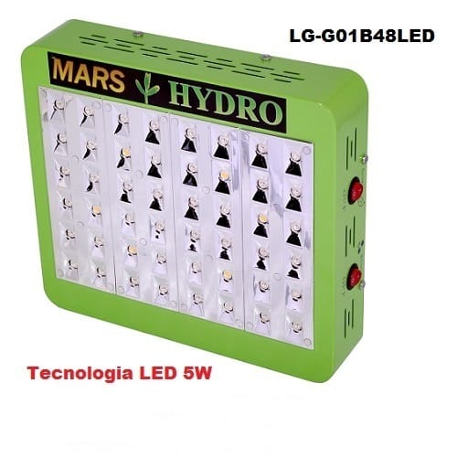 Lampade A Led Per Coltivazione Indoor.Lampade Led Coltivazione Indoor Mars Hydro 48 Led 5w Consumo 96w