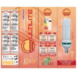 Lampada-Bulbo CFL Cultilite G-Shock Bloom 2700°K per Fioritura