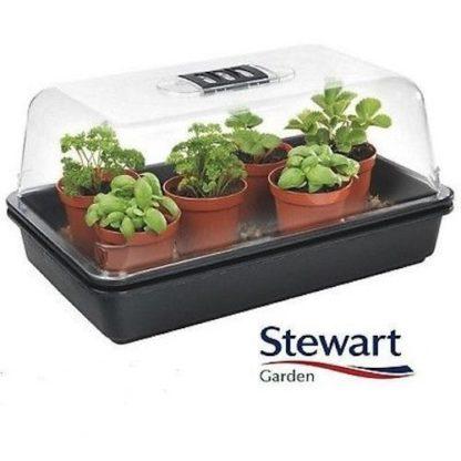 Mini Serra in Plastica Rigida Ventilata-Semenzaio Propagatore Stewart 38X24X18cm