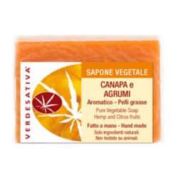Sapone Canapa e Agrumi Aromatico per Pelli Grasse
