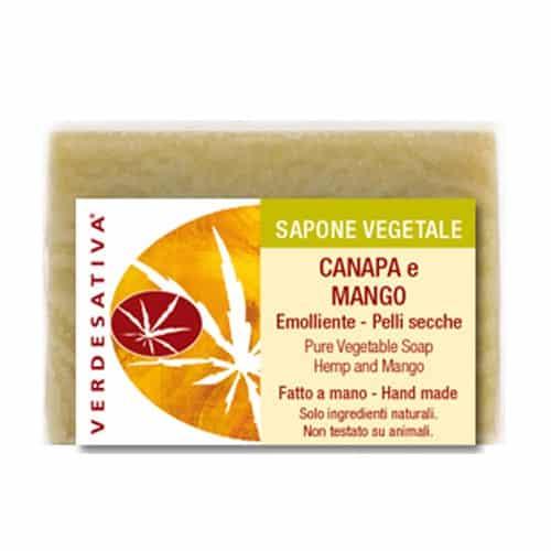 Sapone Canapa e Mango Emolliente per Pelli Secche