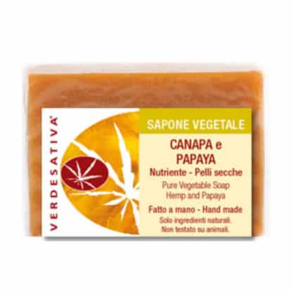 Sapone Canapa e Papaya Nutriente per Pelli Secche