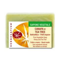 Sapone Canapa e Tea Tree Antisettico per Pelli Impure