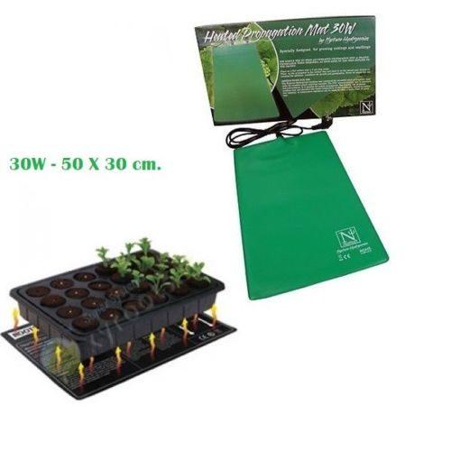 Tappetino Riscaldante 30W-50X30cm per Grow Box e Mini Serre