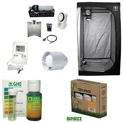 Grow Box Kit Completo Cultibox Lite 60 60x60x140+CFL Agro 125W