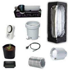 Grow Box Kit Completo Mammoth Lite 40x40x120 + CFL AGRO 125W