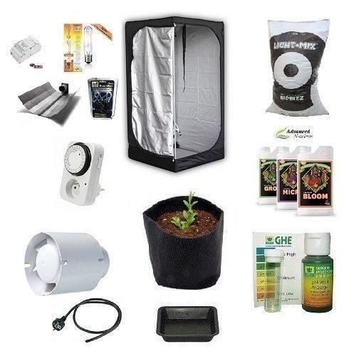 Grow Room Completo Mammoth Lite 80x80x160+HPS AGRO 250W+pH Perfect Kit Starter