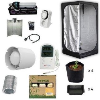 Grow Room Kit Mammoth 100x100x180+HPS 200W Agro+Try Pack Indoor 3x250ml