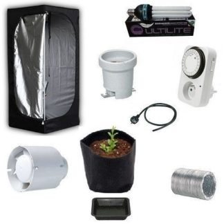 Kit Grow Box Mammoth Lite 60 60x60x140 + CFL 125W per Coltivazione Indoor