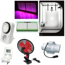 Kit Grow Box Secret Jardin DS120W 120x60x170 + LED Mars Hydro 480W-96 LED