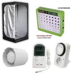 Kit Indoor Completo LED Mars Hydro 48 led 240W+Grow Box Mammoth Lite 80x80x160